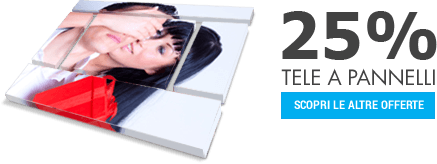 offerta 25% Foto su pannelli