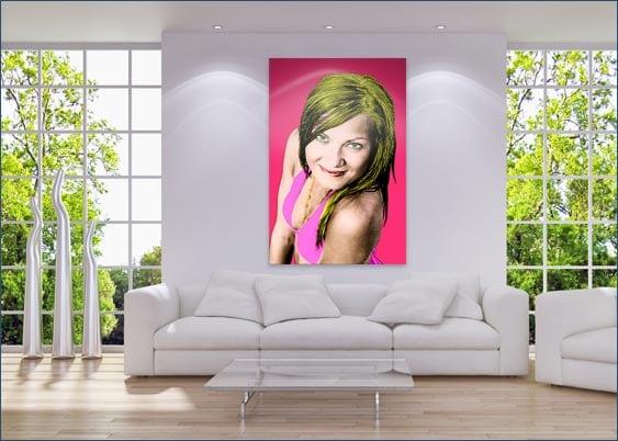 Foto con lavorazione Pop Art